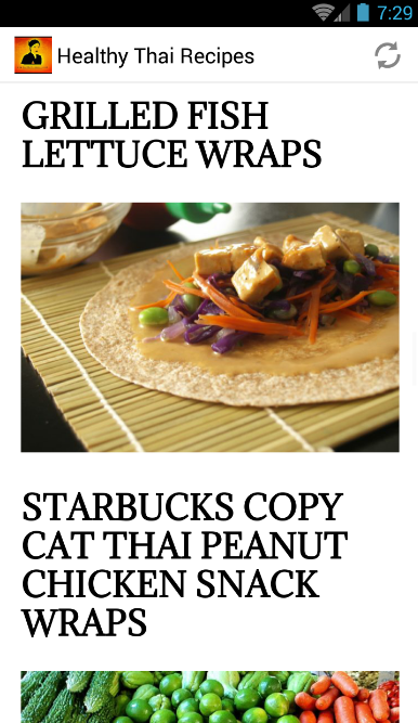 Healthy Thai Recipes App- screenshot