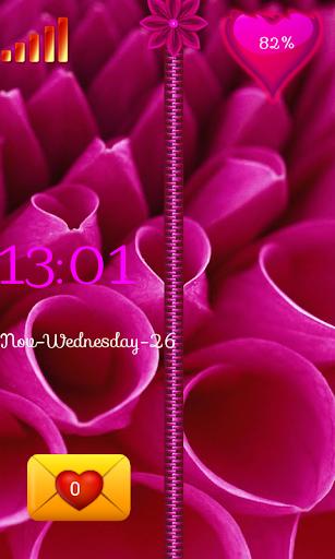 ピンクの花ジップロック