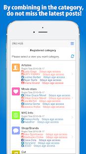 SNS HUB - View summarizes SNS - náhled