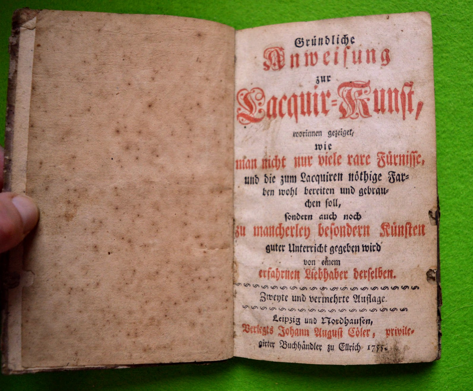 Lackierbuch 1755