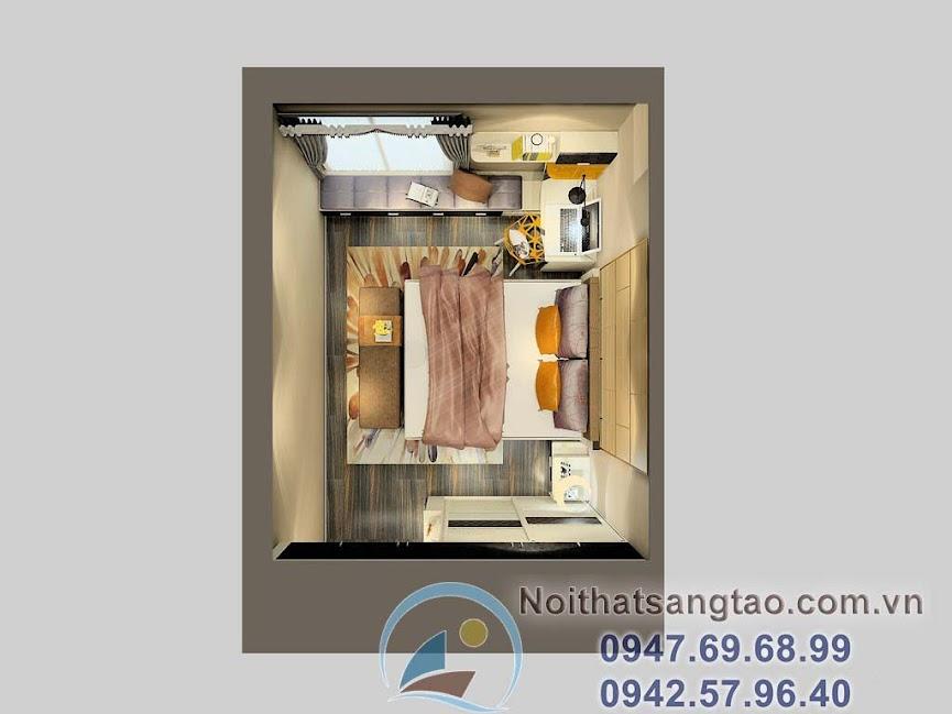 thiết kế phòng ngủ phong cách industrial