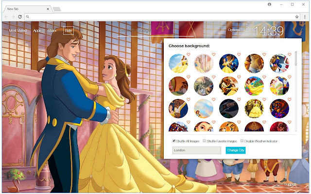 Beauty And The Beast Wallpaper Custom New Tab
