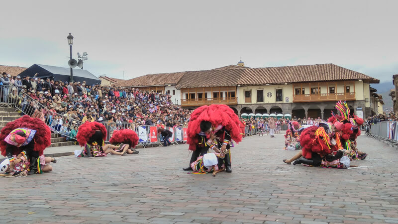 carnival in plaza de arias or the central square in cusco Peru near the Iglesia de Compañía de Jesúsor the jesus church in Cuzco peru+south+america