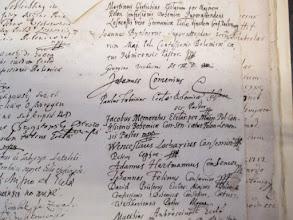 Photo: Podpisy biskupů exilové Jednoty bratrské, mezi nimi i Jana Amose Komenského