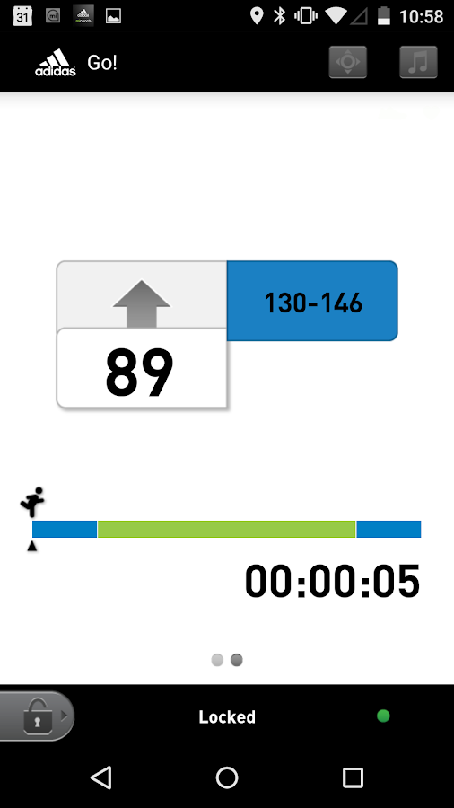 miCoach train & run- screenshot