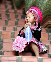 Photo: Day 336 - Little Girl in Hill Tribe  Dress at the Wat in  Doi Suthep#