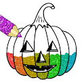 Halloween Coloring Drawing Pages Glitter icon