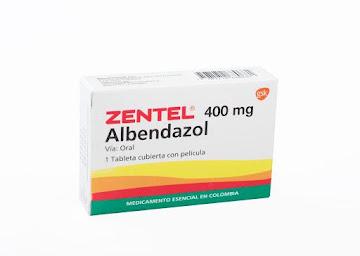 Zentel 400Mg Tabletas   Caja x1Tab. GSK Albendazol