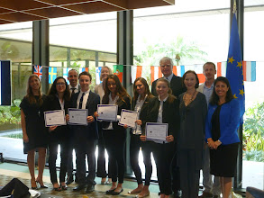 Photo: Euro Challenge Competition 2016 Recognition & Awards Ceremomy Recognition of Florida winner: International Studies Preparatory Academy  Federal Reserve Bank of Atlanta - Miami Branch - April 1st, 2016 International Studies Preparatory Academy by the judges, the FED, ISPA Principal and teacher, Consul General of Italy,  and competition organizer