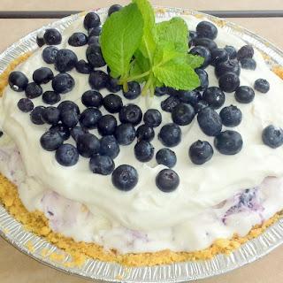 Blueberry Ice Cream Summertime Pie