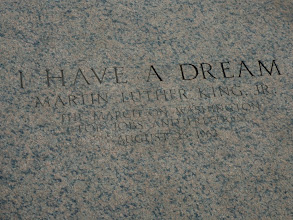 "Photo: The Place were Martin Luther King had his ""I have a dream"" speech."