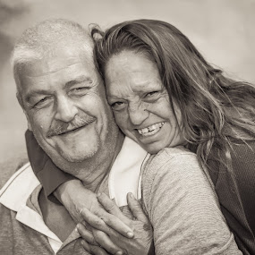 Couple comes into the chapel to marry by John & Sharon Green - People Street & Candids ( love, street life, black and white, wedding, couple,  )