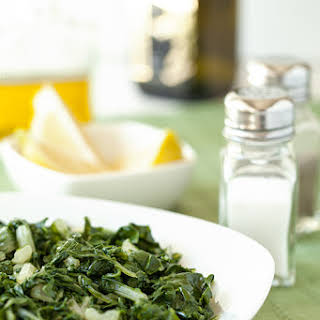 Horta (Steamed Greens with Fresh Lemon Juice and Olive Oil).