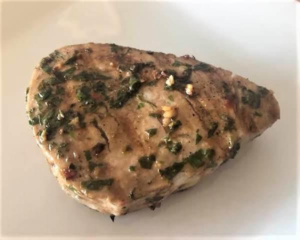 Basil & Cilantro Crusted Tuna Steak