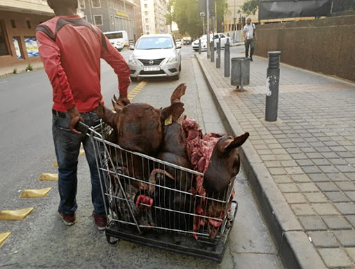 Joburg mayor Herman Mashaba felt the need to enforce the city's health by-laws when he arrested a self-employed man pushing a trolley filled with skopo in the CBD.