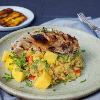 Blackened Chicken with Savory Mango Rice