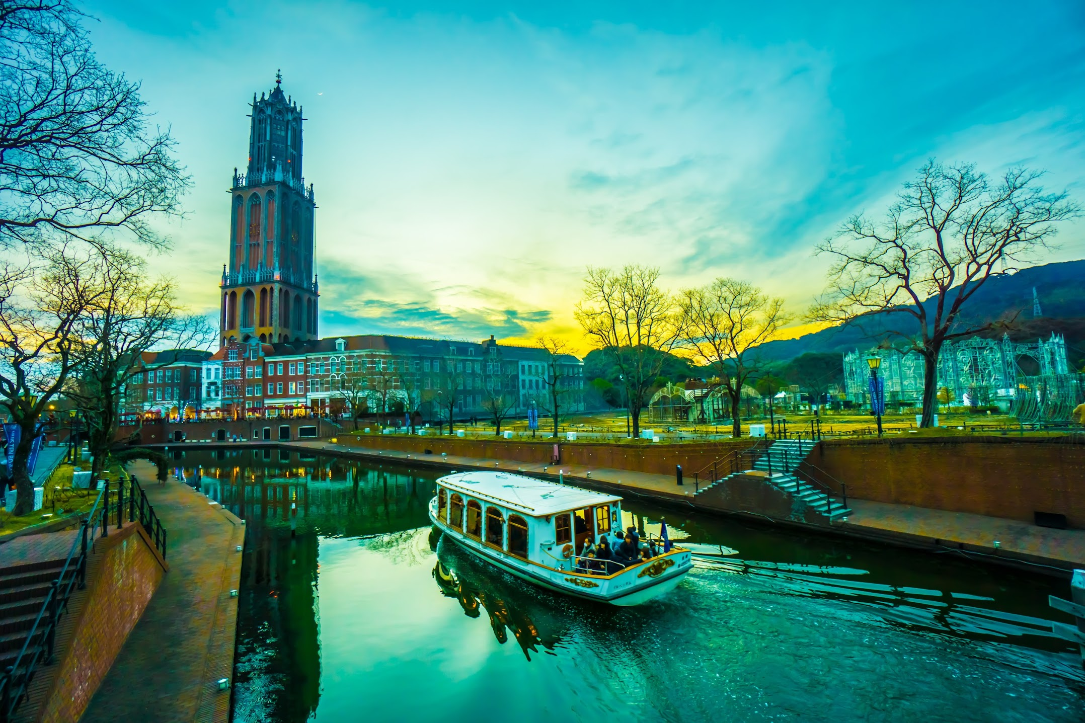 Huis Ten Bosch Canal Cruiser sundown5