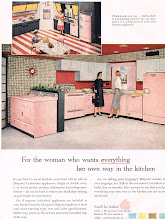 Photo: Hotpoint gave you the option of freestanding or buil tin, pink, stainless steel, baby blue, yellow, coppertone, aqua, and yes, white too.