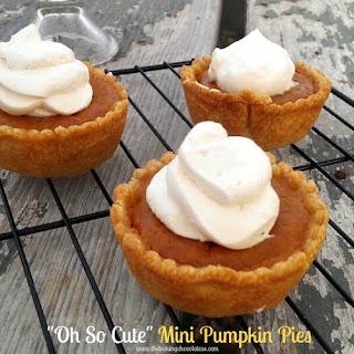 """Oh So Cute"" Mini Pumpkin Pies {with Maple Caramel Whipped Cream}"
