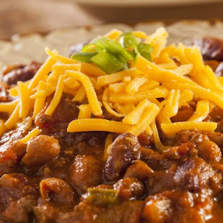 Slow Cooker Hearty Bean, Beef & Sausage Chili.