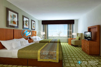 Photo: Interior Rendering of Hotel Room