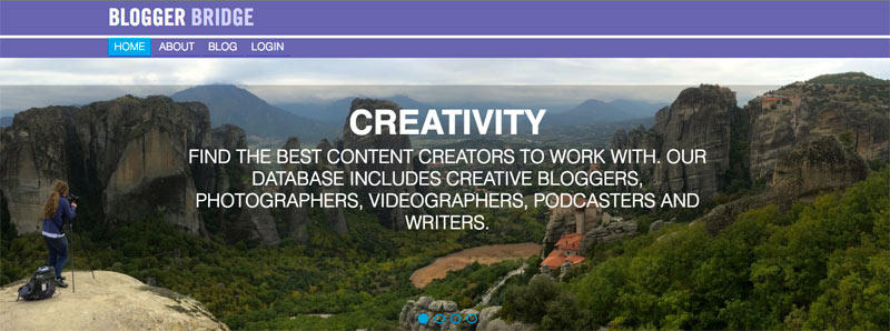 Blogger Bridge, a platform with more than 4,500 travel bloggers, photographers, videographers and podcasters who've opted in.