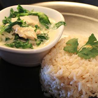 Vegan Thai Green Curry with Tofu on Brown Rice Recipe