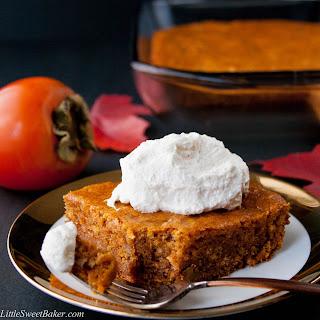 Persimmon Pudding Cake.