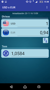 Conversor Dólar USA Euro Screenshot