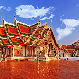 Wat Phra That Choeng Chum Worawihan Temple Sakon Nakhon Thailand by James Morris - Buildings & Architecture Places of Worship ( that choeng chum worawihan, thailand, temple, sakon nakhon, wat phra )