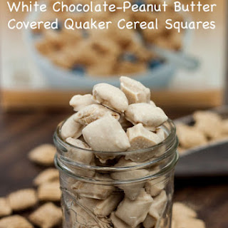 White Chocolate Peanut Butter Covered Cereal Squares