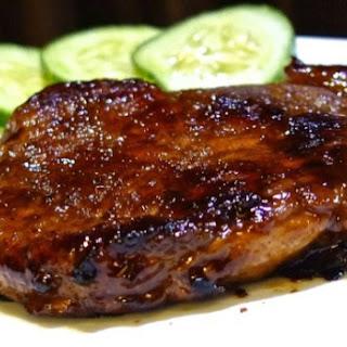 Asian Marinated Pan Fried Pork Chop.
