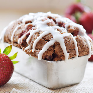 Vegan Strawberry Coffee Cake.