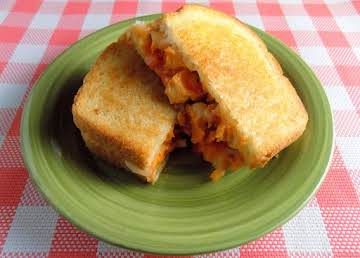 Buffalo Chicken Grilled Onions and Cheese Sandwich