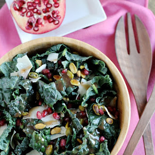 Kale Salad with Pomegranate Molasses Dressing.