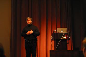 Photo: Simon Phipps keynote, EclipseCon 2004