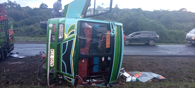 13 injured in Gilgil bus crash
