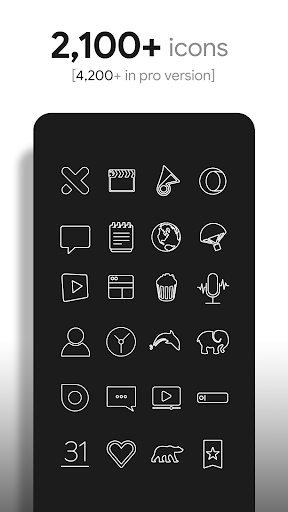 Lines - Icon Pack (Free Version) Apk 2