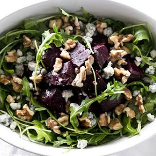 Roasted Beet Salad with Walnuts.