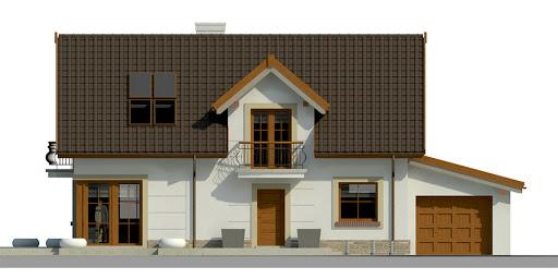 Dom przy Alabastrowej 17 - Elewacja przednia
