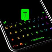 Led Neon Black Keyboard Theme