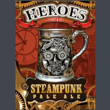 Logo of Heroes Steampunk Pale Ale