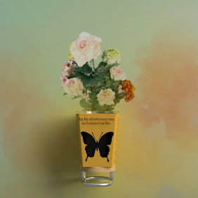 Flower vase【butterfly design】