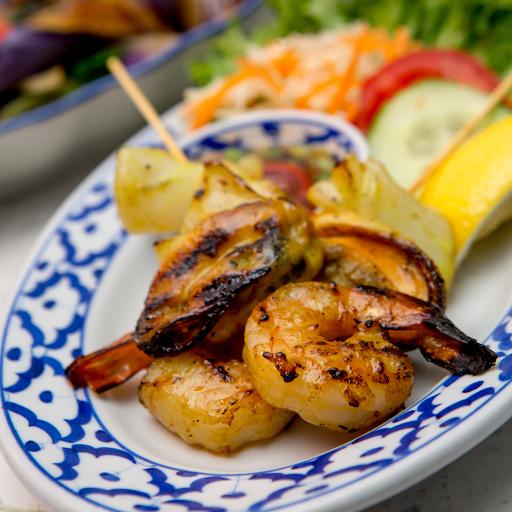 Grilled Seafood Satay