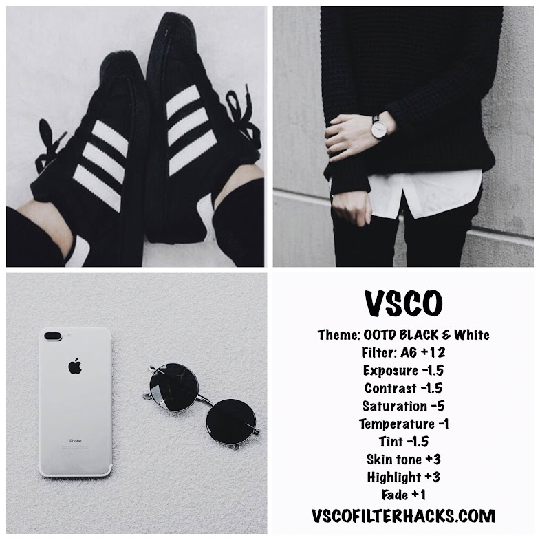 Vsco filters for black and white instagram feed