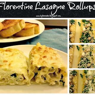 Florentine Lasagne Rollups