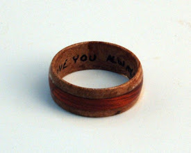 Photo: Jerry Mauch - Remembrance Ring - spalted maple, bloodwood (inlay)