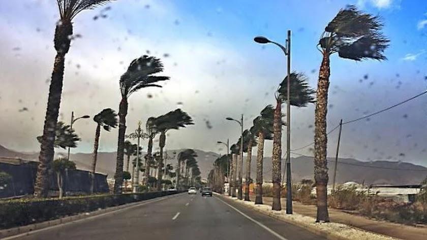 Carretera de Alicún, en Roquetas de Mar.