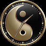 Yin and Yang Clock Widget v1.0