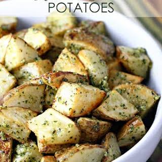 Roasted Pesto Potatoes.